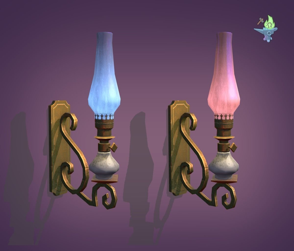 victorian sconce 3d model obj 3ds fbx stl blend dae 1