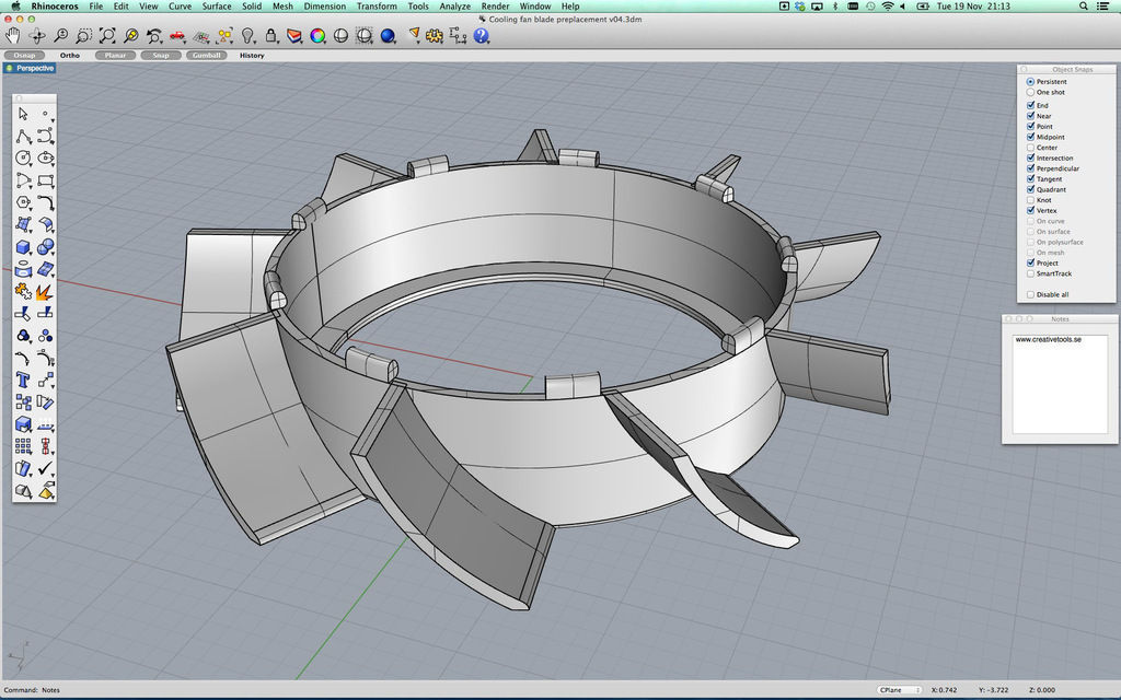 Cooling Fan Replacement Blades Free 3d Model 3d Printable