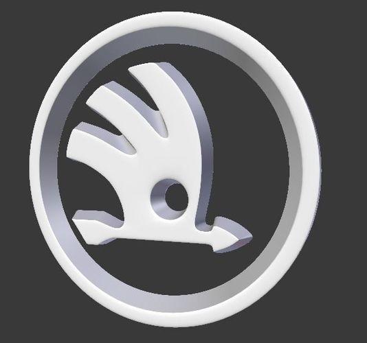 skoda auto logo 3d model blend 1