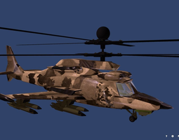 3D asset Fantasy Military Helicopter KA-777 VRVGs-Texas 2