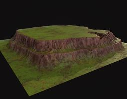 3D asset Table mountain environment model for real time