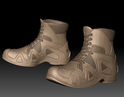 3D model Zbrush Boots 02