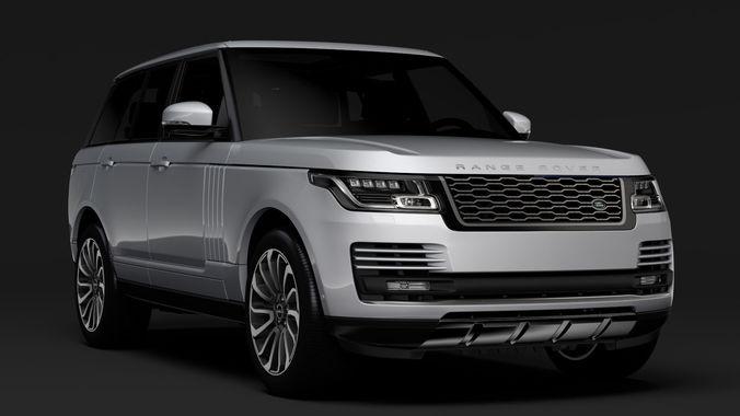Range Rover Autobiography >> Range Rover Vogue SE L405 2018 3D | CGTrader
