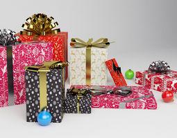 Christmas Gift - Gift Set - Packed - 3D model
