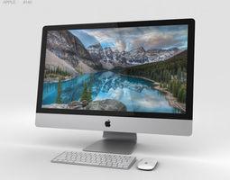 3D Apple iMac 27-inch 2015