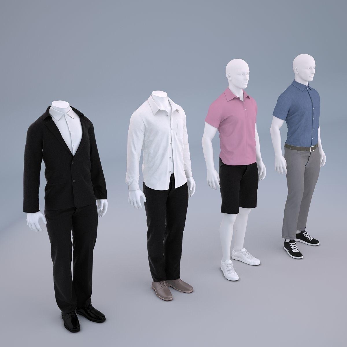 Mannequin Men Cloth Model For Shop Vol 1