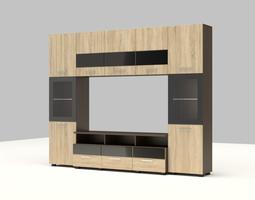 3D model furniture set for living room