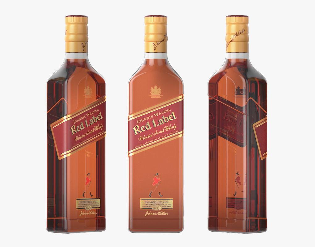 Red Label Whiskey bottle