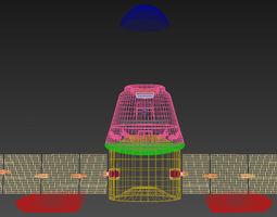 Cargo Shuttle Pod 3D asset