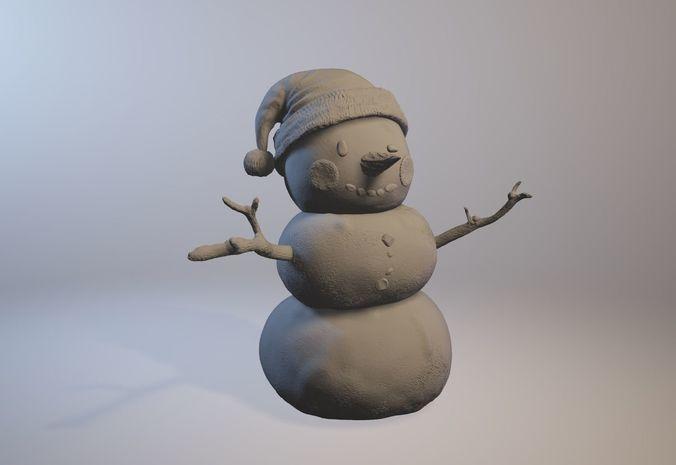 snowman 3d model stl 1