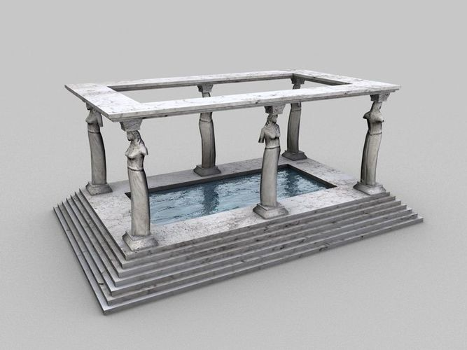 Ancient bath3D model