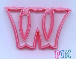 3D printable model Vintage letter W cookie cutter
