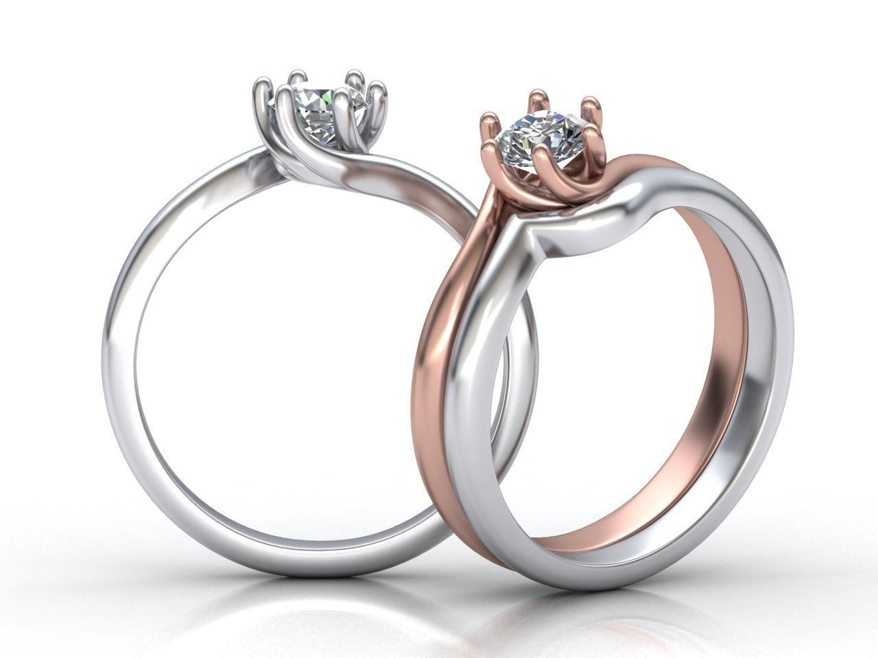 6 prong bypass Engagement ring 0198