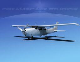 3D Cessna 210 Centurion Bare Metal