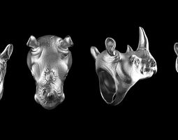 Rhinoceros ring 3D printable model
