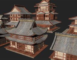 3D model Asian Architecture