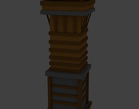 Very LowPoly Medieval Tower 3D asset