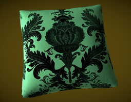 3D Silk pillow for a bed or a sofa - Baroque stile