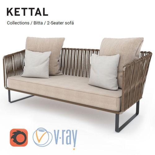 Kettal Bitta 2 Seater Sofa 3d Model Max Obj Mtl Fbx 1