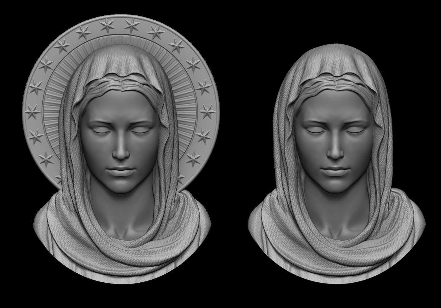Virgin Mary Pendant 2 Versions