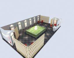 3d model exhibit space 001