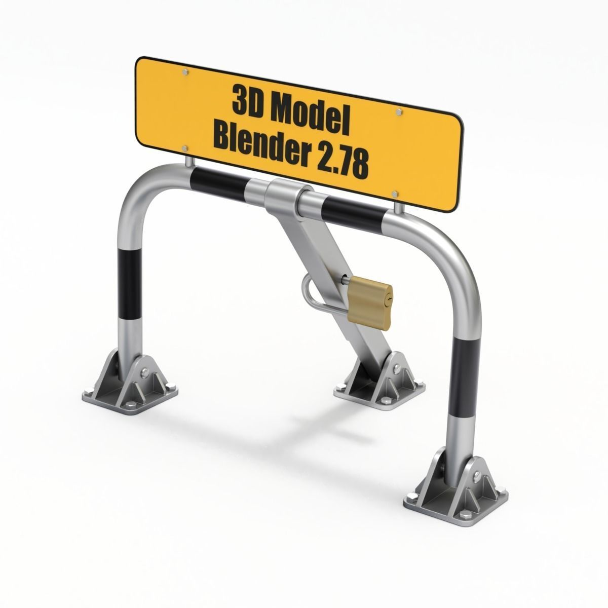Parking Barrier | 3D model