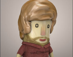 Hipster Character 3D model