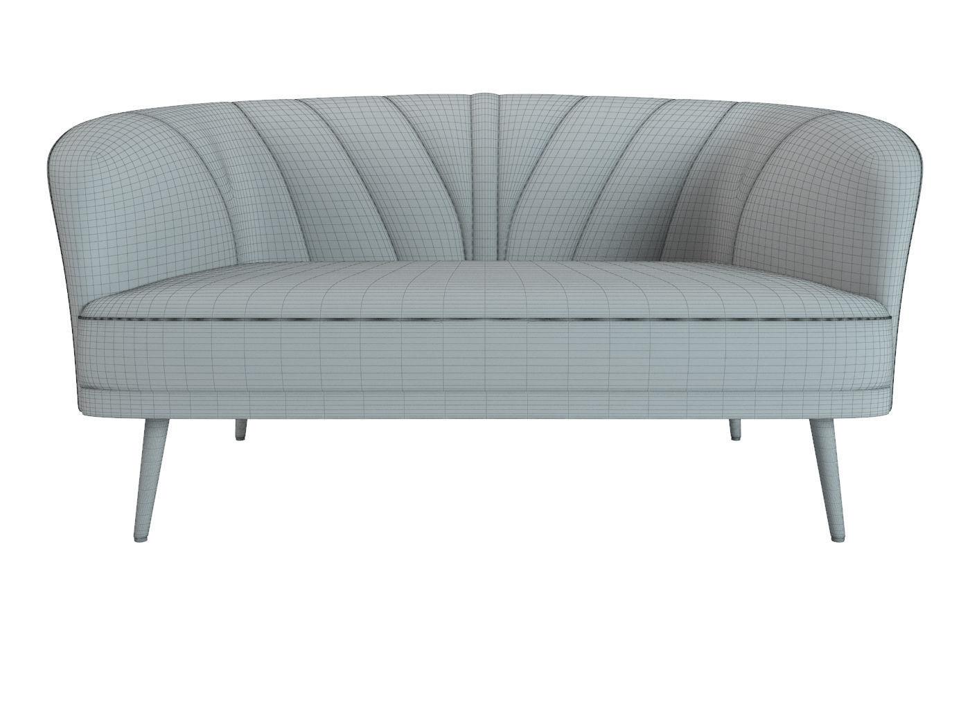... Sofa Banquette Laredoute 3d Model Max Obj Mtl Fbx 3 ...