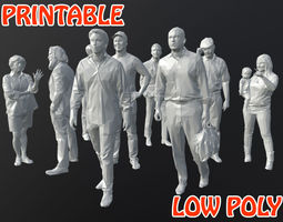 09 Low Poly People - Printable 3D asset game-ready