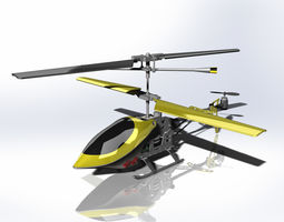 Shiny Plastic Toy Helicopter 3D Project