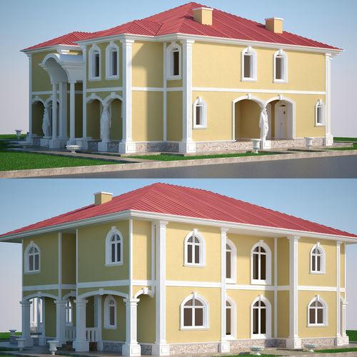 luxury villa set  3d model max 1