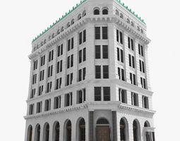 3D New York corner building