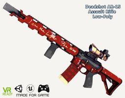 Deadshot Colt AR-15 Assault Rifle 3D asset