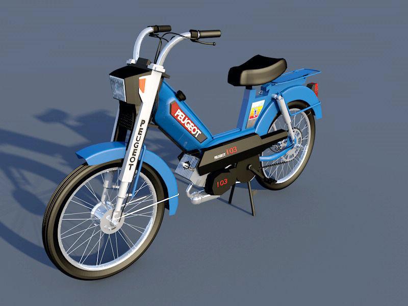 peugeot 103 motorcycle | 3D model