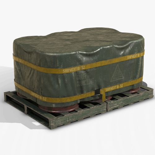 barrel shipment game prop pbr  3d model low-poly max obj mtl fbx lwo lw lws ma mb blend 1