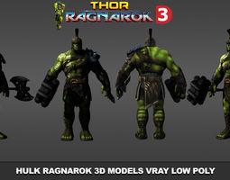 Hulk Ragnarok 3D Models Low Poly low-poly