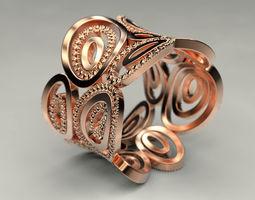 Female ring of ovals 3D print model