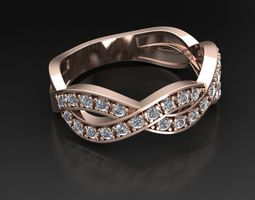3D print model Interlaced ring