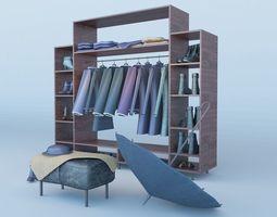 fabric Coat Stand 3D model