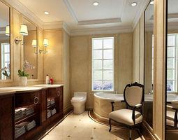 3D bathroom design complete model 133
