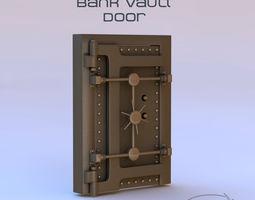 safe 3D model Vault Door