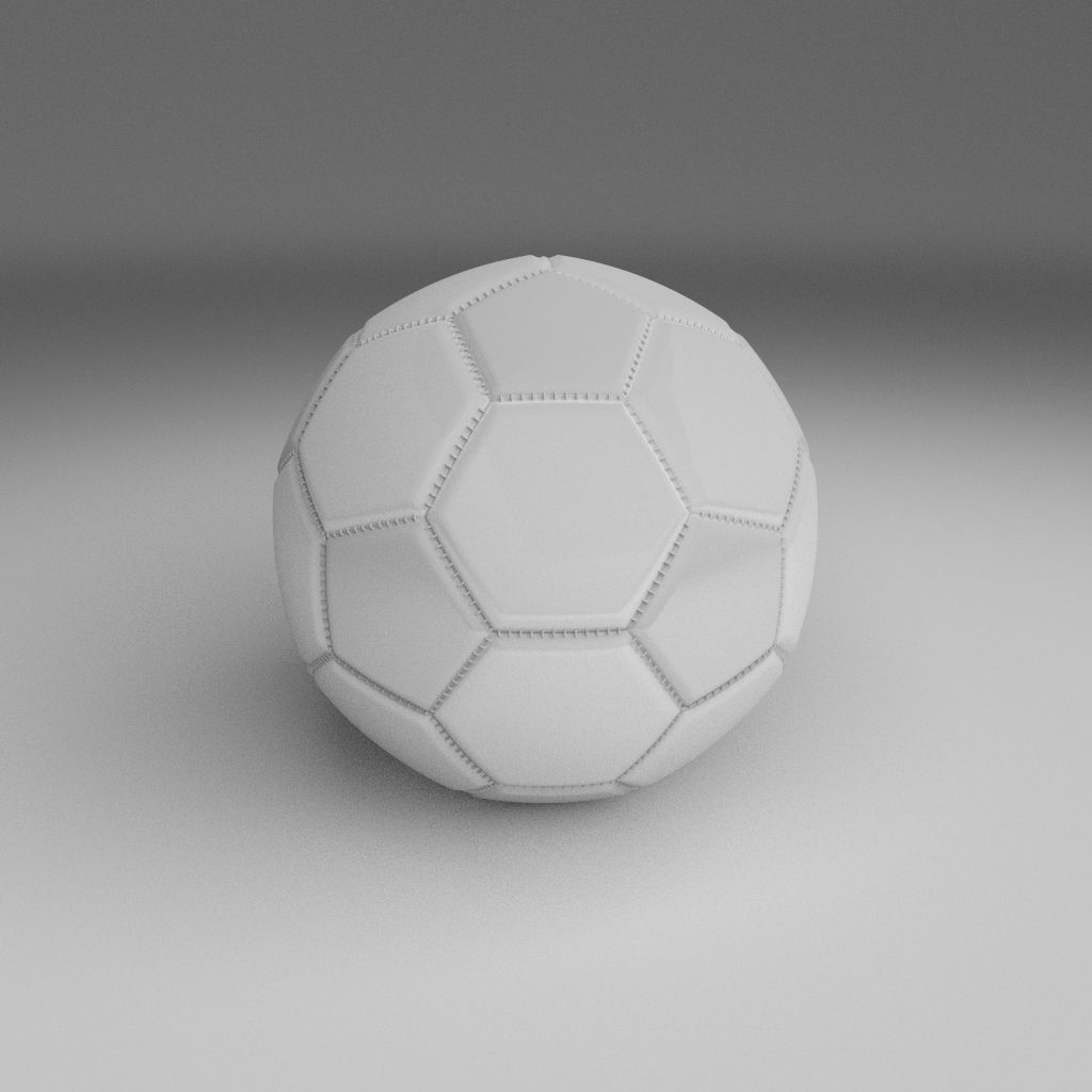 High Quality 3d Models: High Quality White Football 3D Model Game Ready Animated