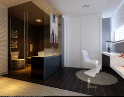 Family fashion bathroom bathroom 1809 3D