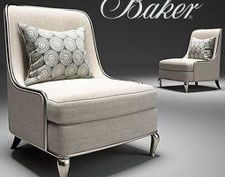 BAKER EMPRESS CHAIR No 6709C BARBARA BARRY 3D