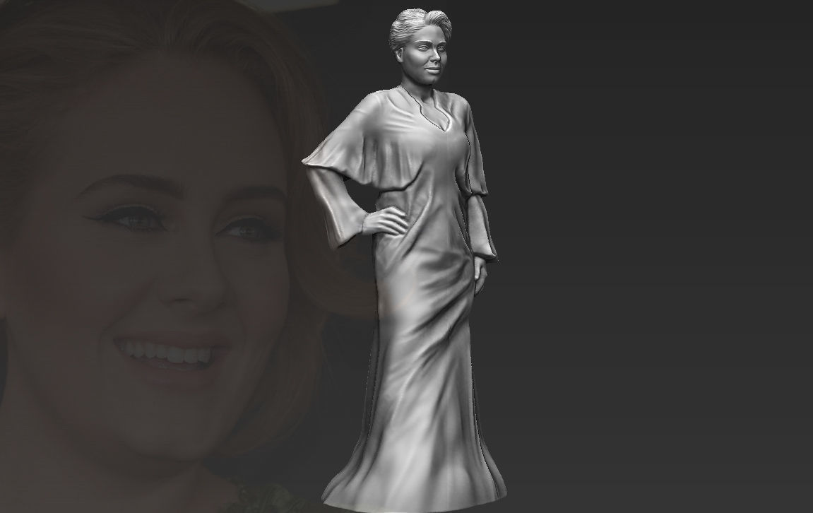 Adele 3D printing ready stl obj formats
