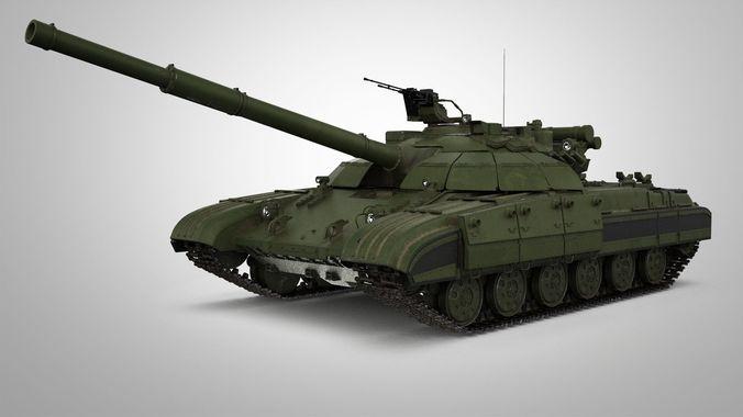 t-64 tank 3d model max obj mtl fbx mat 1