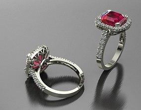 gift ring halo 3D print model