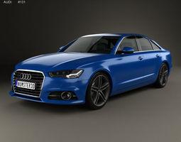 3D model Audi A6 C7 saloon 2015