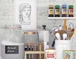 Kitchen appliances 3D model rocking