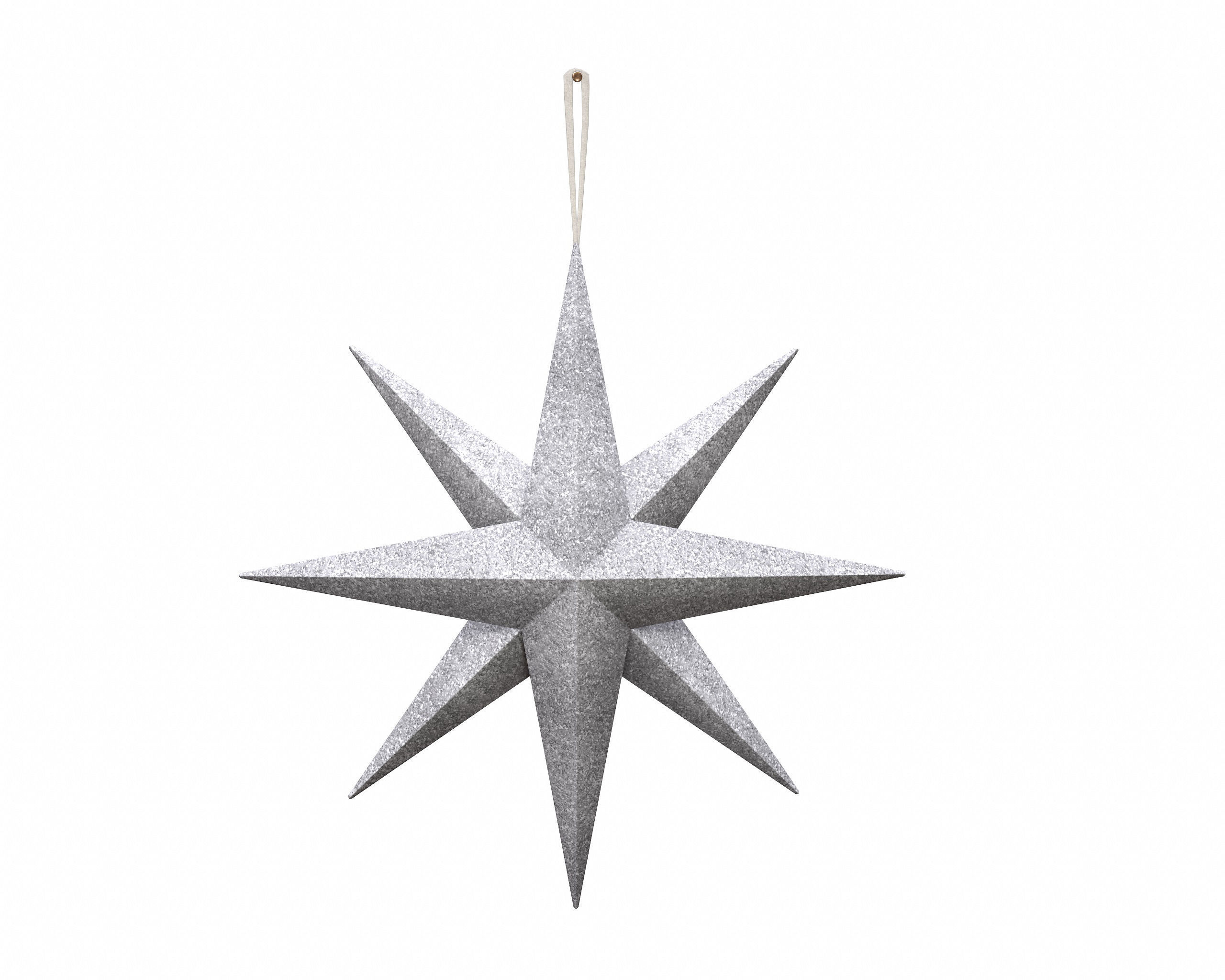 Star wall decoration with hanger